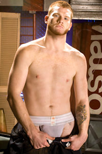 male muscle porn star: Ryan Patrick, on hotmusclefucker.com