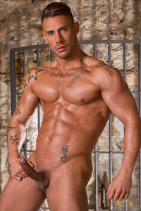 male muscle porn star: Sergyo Caruso, on hotmusclefucker.com