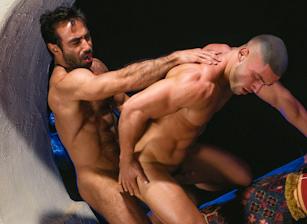 gay muscle porn clip: Arabesque - Francois Sagat & Huessein, on hotmusclefucker.com