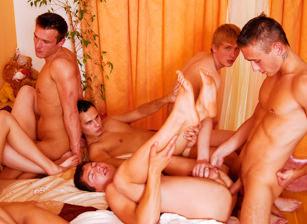 Bisex Creampie Orgy #03, Scene #03
