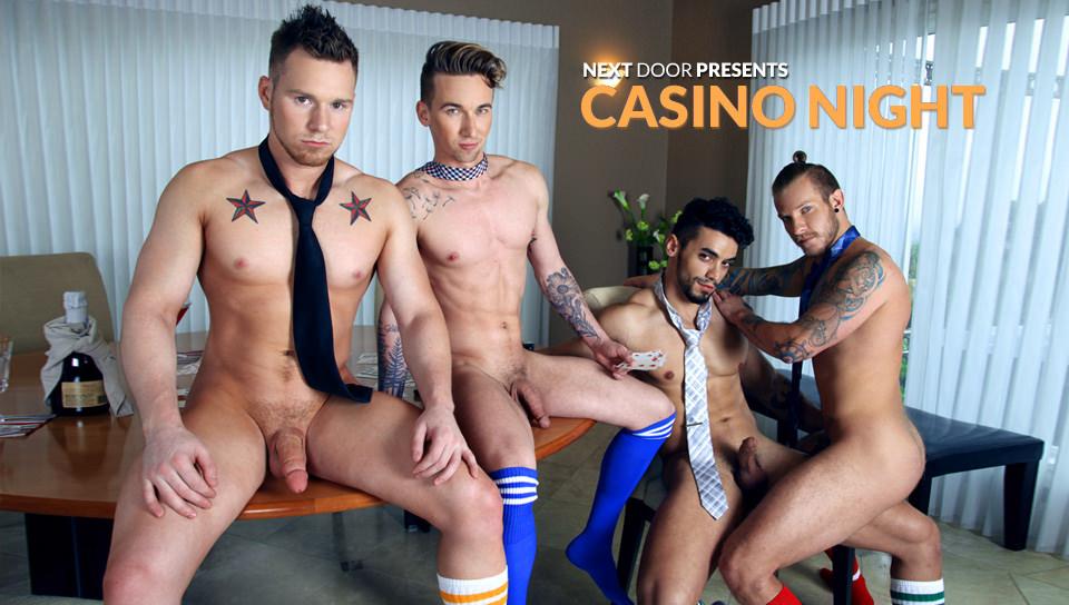 casino night gay porno