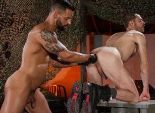 gay muscle porn clip: ASSault - Christian Lesage & David Benjamin, on hotmusclefucker.com