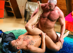 gay muscle porn clip: Guys Only Retreat - Brandon Wilde & Shay Michaels, on hotmusclefucker.com