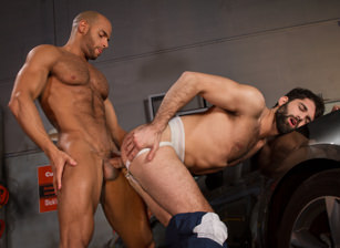 gay muscle porn clip: Drive Shaft - Sean Zevran & Tegan Zayne, on hotmusclefucker.com