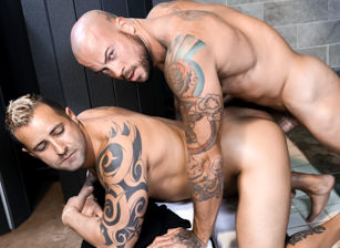 gay muscle porn clip: Jealous Lovers Part 2 - Kaleb Kessler & Sean Duran, on hotmusclefucker.com