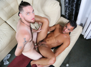 gay muscle porn clip: Movie Night - Anthony Jones & Javier Cruz, on hotmusclefucker.com