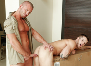 gay muscle porn clip: Familiar Package - James Huntsman & Quentin Gainz, on hotmusclefucker.com