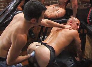 gay muscle porn clip: Up Your Alley II - Aaron Tanner & Jeff Allen & Matthew Green & Michael Soldier & Rik Jammer & Sky Donovan, on hotmusclefucker.com