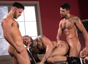 gay muscle porn clip: High n' Tight - Jackson Grant & Mick Stallone & Rikk York, on hotmusclefucker.com