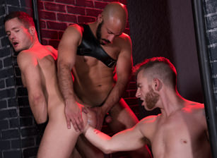 gay muscle porn clip: Fistin Alley - Ashley Ryder & Dylan Strokes & Sebastian Keys, on hotmusclefucker.com