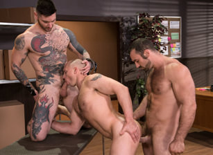 gay muscle porn clip: Sexual His ASSment - Jaxton Wheeler & John Magnum & Teddy Bryce, on hotmusclefucker.com