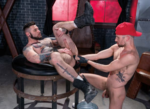 gay muscle porn clip: Strong Arm Landlord - Drew Dixon & Teddy Bryce, on hotmusclefucker.com