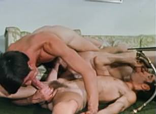 gay muscle porn clip: 3 Way Climax - Dave & Larry Atkins & Mark, on hotmusclefucker.com