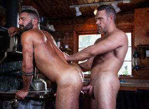 gay muscle porn clip: Blood Moon: Timberwolves #02 - Alex Mecum & Sharok, on hotmusclefucker.com