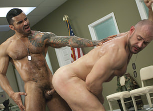 Craig Reynolds & Alexsander Freitas in Major Asshole | hotmusclefucker.com