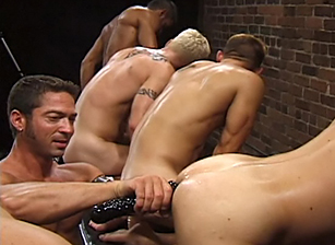 gay muscle porn clip: Up Your Alley 1 - Aaron Tanner & Bryce Pierce & Jeff Allen & Michael Soldier & Rik Jammer & Scott Samson & Sky Donovan, on hotmusclefucker.com