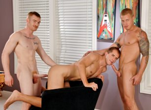 gay muscle porn clip: The Three Spooges - Brandon Lewis & Brody Wilder & James Jamesson, on hotmusclefucker.com